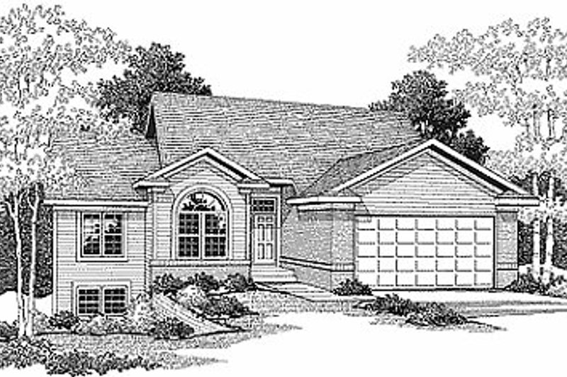 Traditional Style House Plan - 2 Beds 1.5 Baths 1356 Sq/Ft Plan #70-116 Exterior - Front Elevation