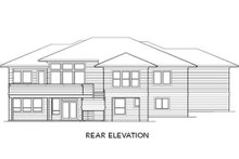 Prairie Exterior - Rear Elevation Plan #48-293