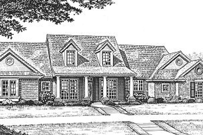 Country Exterior - Front Elevation Plan #310-608