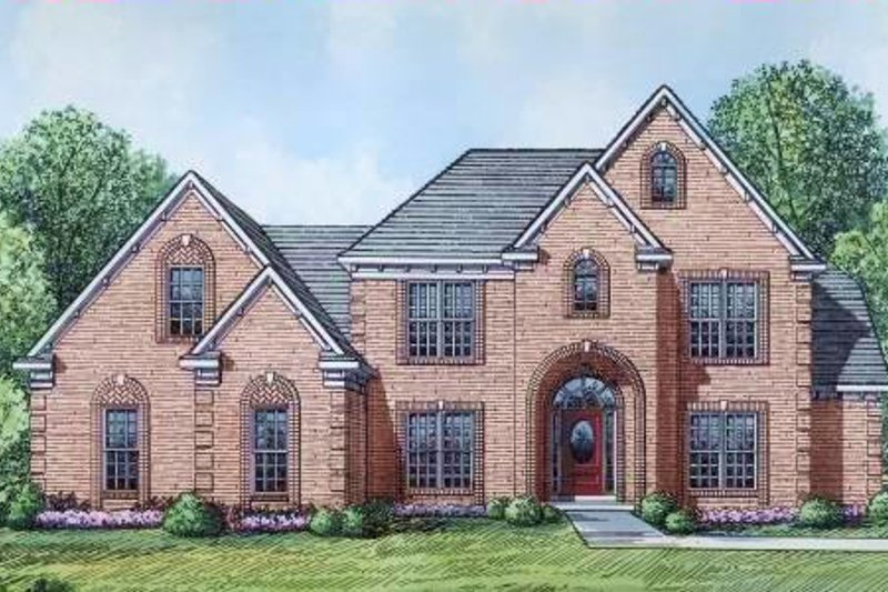 Traditional Style House Plan - 5 Beds 4 Baths 3336 Sq/Ft Plan #424-49