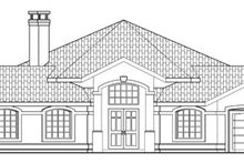 Exterior - Rear Elevation Plan #124-249