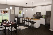 Traditional Style House Plan - 4 Beds 3.5 Baths 2317 Sq/Ft Plan #455-214 Interior - Kitchen