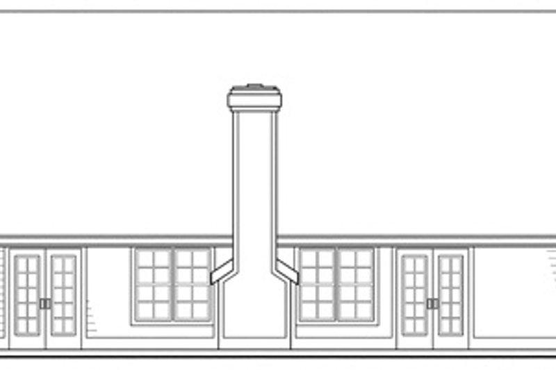 Traditional Exterior - Rear Elevation Plan #124-403 - Houseplans.com