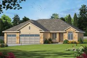 Ranch Style House Plan - 3 Beds 2 Baths 1826 Sq/Ft Plan #20-2267 Exterior - Front Elevation