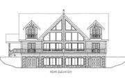 Log Style House Plan - 3 Beds 3 Baths 3167 Sq/Ft Plan #117-599 Exterior - Rear Elevation