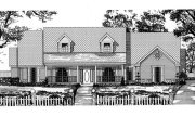 Traditional Style House Plan - 4 Beds 3 Baths 3451 Sq/Ft Plan #62-123 Exterior - Front Elevation