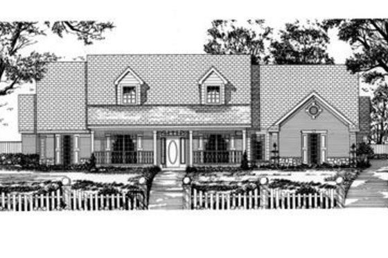 Traditional Exterior - Front Elevation Plan #62-123