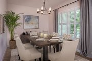 Contemporary Style House Plan - 4 Beds 4 Baths 3582 Sq/Ft Plan #938-92 Interior - Dining Room