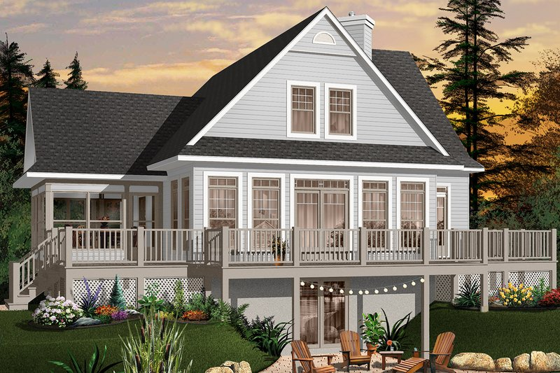 Architectural House Design - Country Exterior - Rear Elevation Plan #23-849