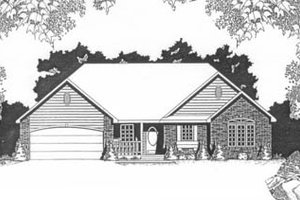 Architectural House Design - Traditional Exterior - Front Elevation Plan #58-131