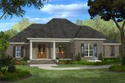 European Style House Plan - 4 Beds 3 Baths 2400 Sq/Ft Plan #430-48 Exterior - Front Elevation