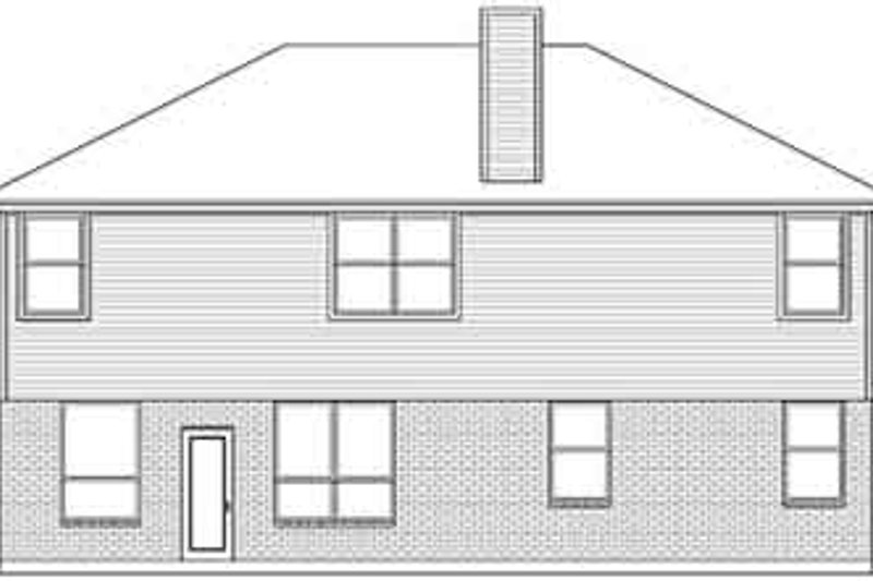 European Exterior - Rear Elevation Plan #84-234 - Houseplans.com