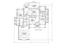 Country Floor Plan - Main Floor Plan Plan #1054-28