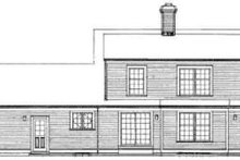 Colonial Exterior - Rear Elevation Plan #72-333