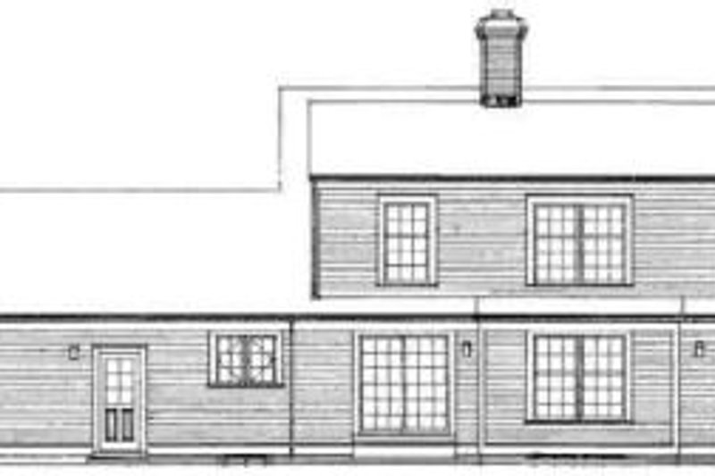 Colonial Exterior - Rear Elevation Plan #72-333 - Houseplans.com