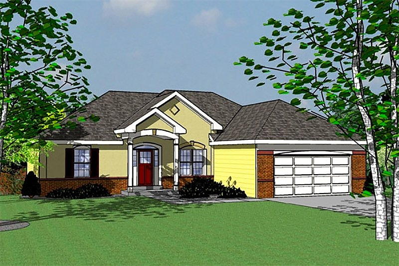 Traditional Exterior - Front Elevation Plan #31-121 - Houseplans.com