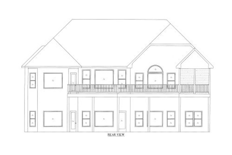 Traditional Exterior - Other Elevation Plan #437-44 - Houseplans.com