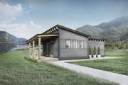 Cabin Style House Plan - 1 Beds 1 Baths 440 Sq/Ft Plan #924-7 Exterior - Front Elevation