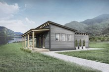 House Design - Cabin Exterior - Front Elevation Plan #924-7
