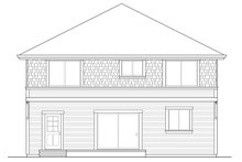 Home Plan - Colonial Exterior - Rear Elevation Plan #124-958