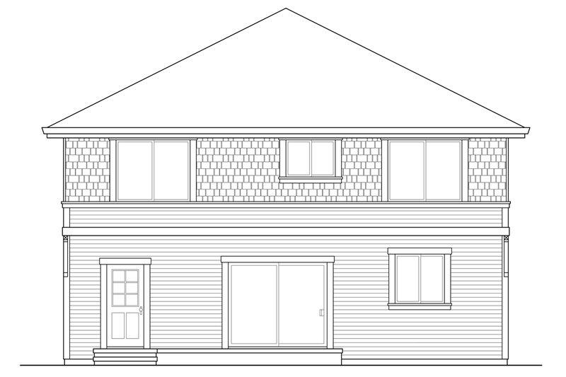 Colonial Exterior - Rear Elevation Plan #124-958 - Houseplans.com