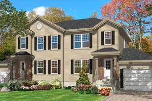 Architectural House Design - Traditional Exterior - Front Elevation Plan #138-239