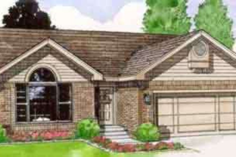 Ranch Style House Plan - 3 Beds 2 Baths 1274 Sq/Ft Plan #116-156 Exterior - Front Elevation