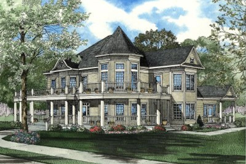 Home Plan - Southern Exterior - Front Elevation Plan #17-2042