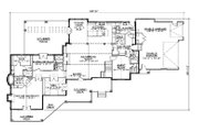 Traditional Style House Plan - 5 Beds 6 Baths 3117 Sq/Ft Plan #5-338 Floor Plan - Main Floor