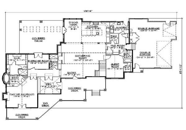 Traditional Floor Plan - Main Floor Plan Plan #5-338