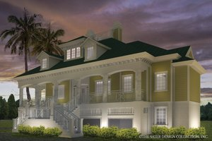 Southern Exterior - Front Elevation Plan #930-18
