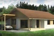 Bungalow Style House Plan - 3 Beds 1 Baths 853 Sq/Ft Plan #906-17 Photo