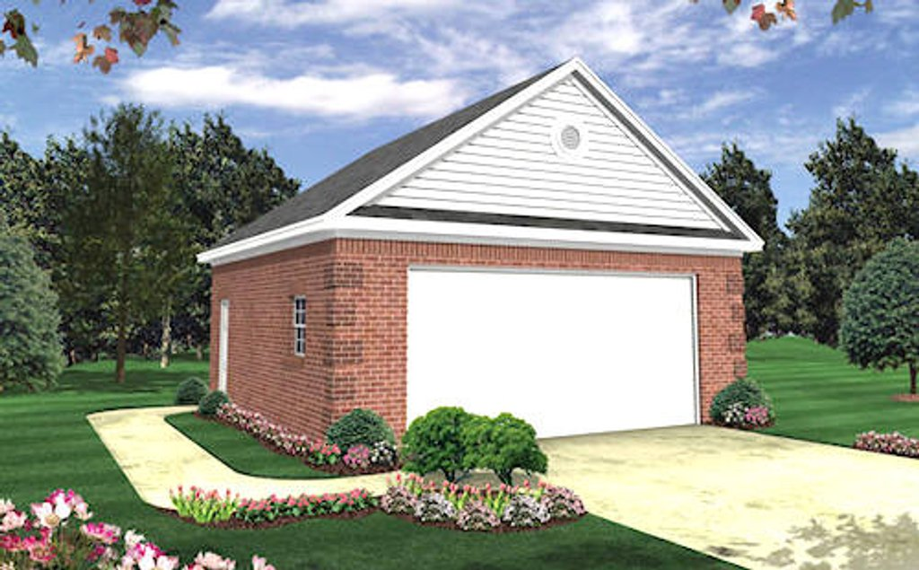Traditional style house plan 0 beds 0 baths 576 sq ft for Cost to build a 576 sq ft house