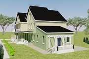 Farmhouse Style House Plan - 5 Beds 6 Baths 4635 Sq/Ft Plan #542-10 Exterior - Other Elevation