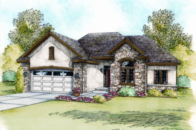 European Exterior - Front Elevation Plan #20-2059 - Houseplans.com