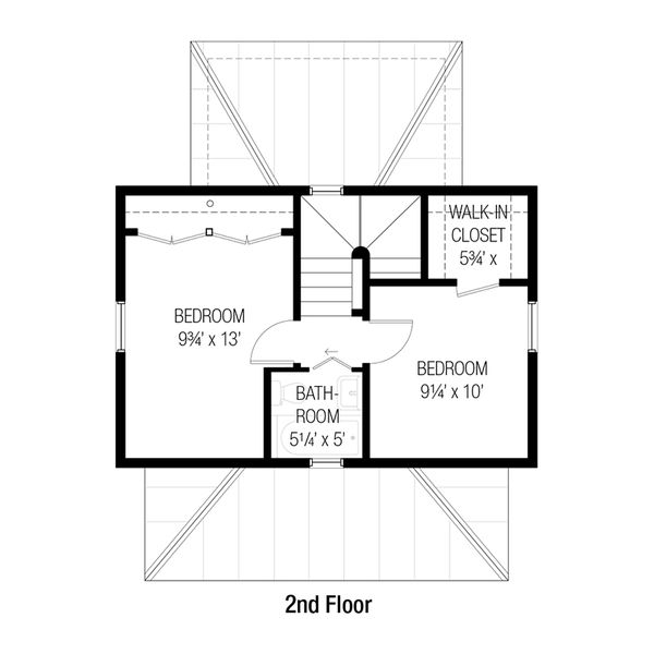 Cottage Floor Plan - Upper Floor Plan Plan #915-14