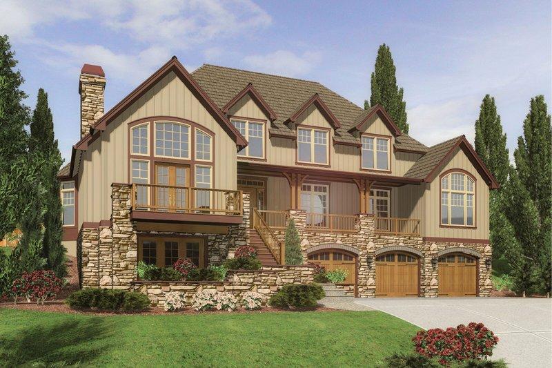 Dream House Plan - Craftsman Exterior - Front Elevation Plan #48-665