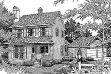 Dream House Plan - Country Exterior - Front Elevation Plan #41-124