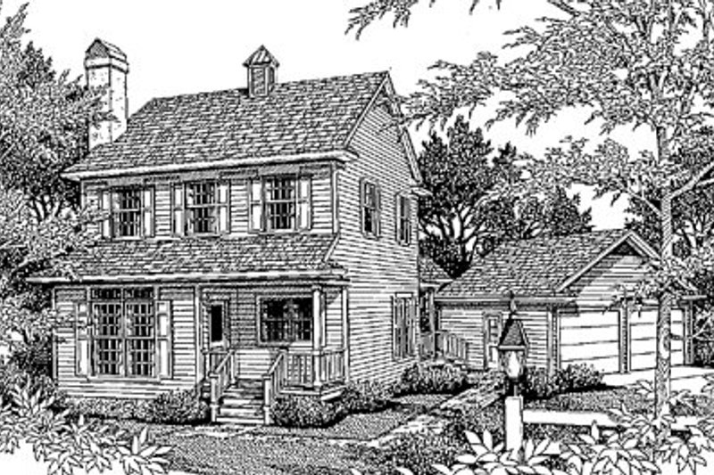 Country Exterior - Front Elevation Plan #41-124