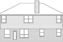European Exterior - Rear Elevation Plan #84-235