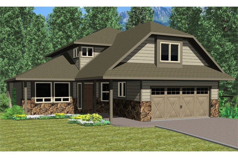 European Style House Plan - 3 Beds 2.5 Baths 2508 Sq/Ft Plan #126-184 Exterior - Front Elevation