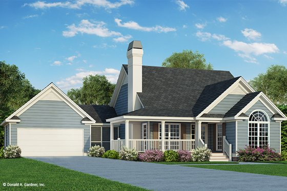 Country Exterior - Front Elevation Plan #929-47