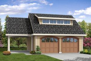Craftsman Exterior - Front Elevation Plan #124-1050