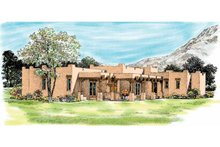Adobe / Southwestern Exterior - Other Elevation Plan #72-339