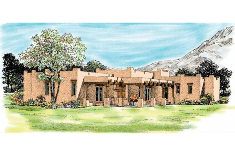 Adobe / Southwestern Exterior - Other Elevation Plan #72-339 - Houseplans.com