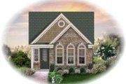 Country Style House Plan - 3 Beds 2 Baths 1360 Sq/Ft Plan #81-1398 Exterior - Front Elevation