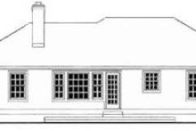 Dream House Plan - Traditional Exterior - Rear Elevation Plan #406-210