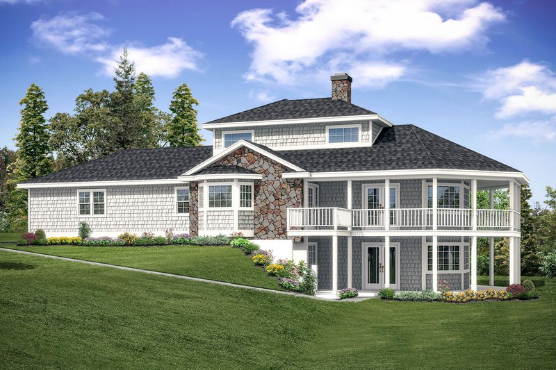 Beach Exterior - Front Elevation Plan #124-1094