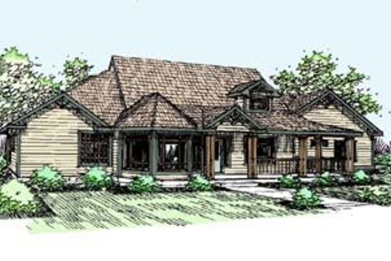 Traditional Exterior - Front Elevation Plan #60-270 - Houseplans.com