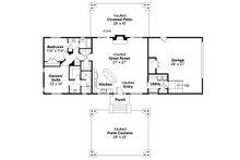 Craftsman Floor Plan - Main Floor Plan Plan #124-1019